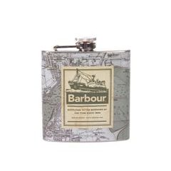 Barbour Archive Map Hip Flask rozsdamentes acél laposüveg - Green