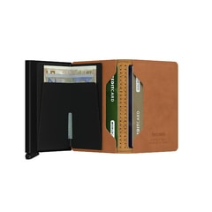 Secrid Slimwallet Perforated - Cognac
