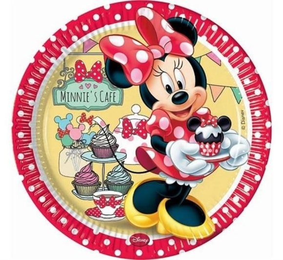 Talíře Minnie  CAFE 23 cm 8 ks