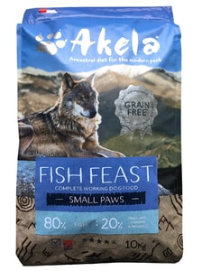 Akela 80/20 Fish Feast Grain Free Small Paws 10 kg