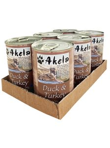 Konzerva Akela Grain Free 70% Duck + Turkey 6 x 400 g