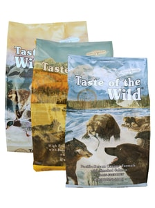 Taste of the Wild High Prairie + Pacific Stream + Wetlands 3 x 2 kg