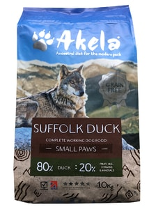 Akela 80/20 Suffolk Duck Grain Free Small Paws 10 kg
