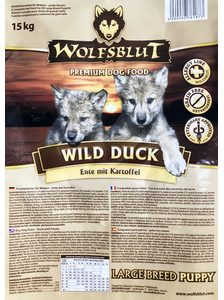 Wolfsblut Wild Duck Puppy Large Breed 15 kg