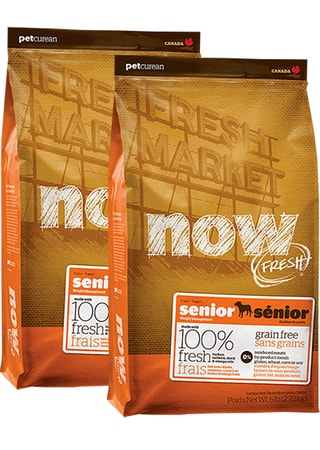 NOW! FRESH Grain Free Senior Dog 2 x 11,4 kg