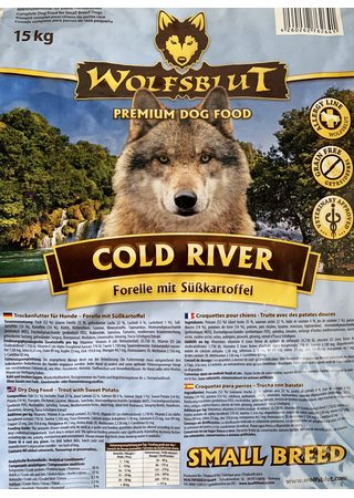 Wolfsblut Cold River Small Breed 15 kg