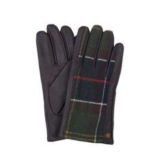 Tartanové rukavice Barbour Weldon - Dark Brown / Classic Tartan