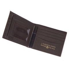 Kožená peňaženka Barbour Amble Leather Billfold ID - Dark Brown / Classic Tartan