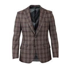Tweedové sako Walker Slater Edward - Brown & Navy Check