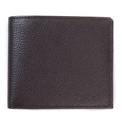 Peňaženka Barbour Amble Billfold Wallet zo zrnitej kože - Dark Brown