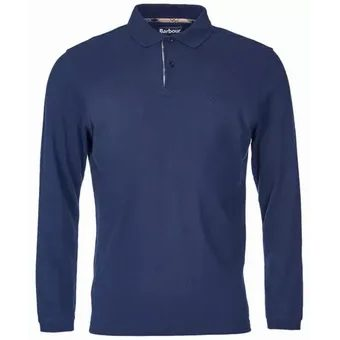 Polo s dlhými rukávmi Barbour L/S Sports Polo - navy