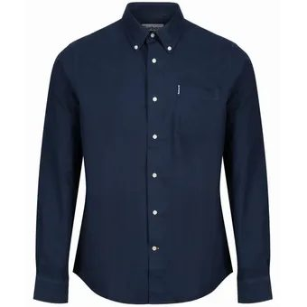 Tmavo modrá košeľa Barbour Oxford (button-down)
