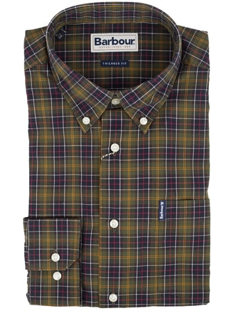 Tartanová košeľa Barbour (button-down)