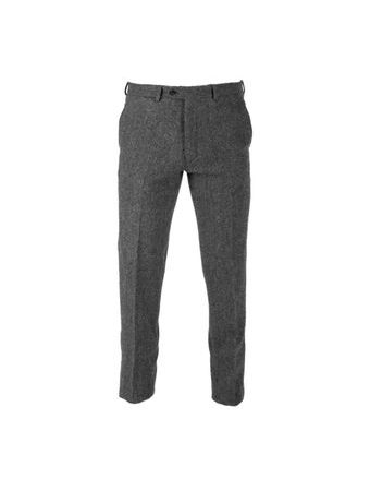 Tweedové nohavice Walker Slater Edward - Charcoal Herringbone