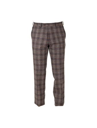 Tweedové nohavice Walker Slater Edward - Brown & Navy Check