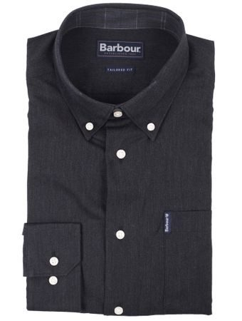 Antracitová košeľa Barbour Lambton (button-down)
