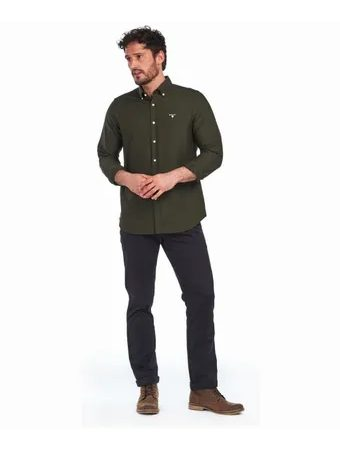 Tmavo zelená košeľa Barbour Oxford (button-down)
