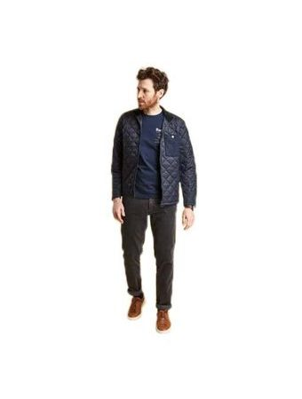 Menčestrové nohavice Barbour Neuston Stretch Cord - navy