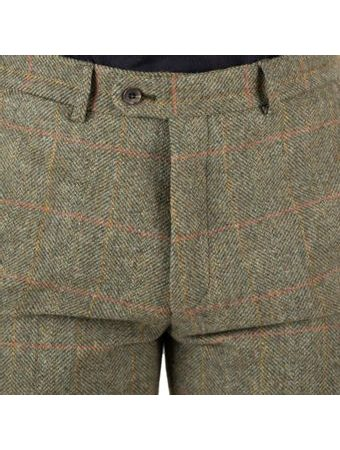 Tweedové nohavice Walker Slater Edward - Moss Red Yellow Herringbone & Windowpane