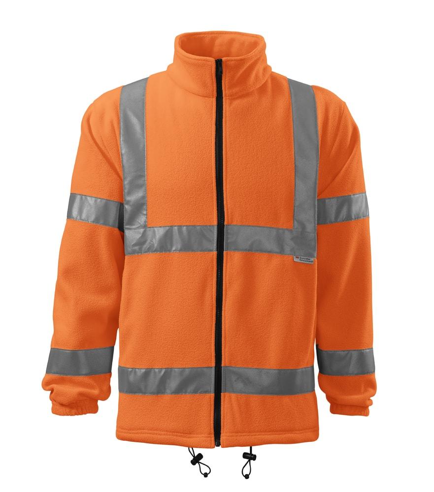 Adler Reflexná fleecová bunda HV Fleece Jacket - Reflexní oranžová | XXXL