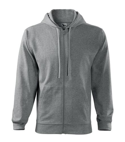 Adler Pánska mikina Trendy Zipper - Tmavě šedý melír   L