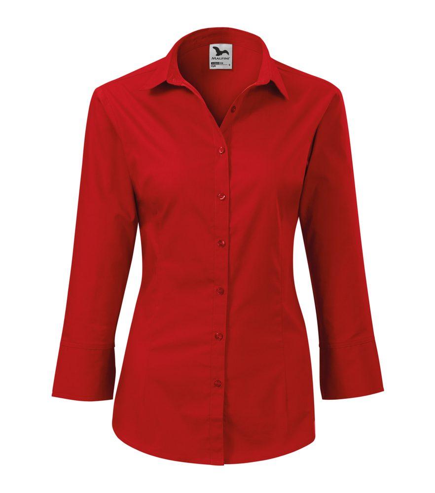 Adler Dámska košeľa s trojštvrťovým rukávom Style - Červená | XXL