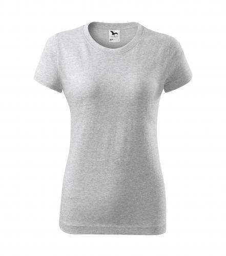 Adler Dámské tričko Basic - Světle šedý melír | XS