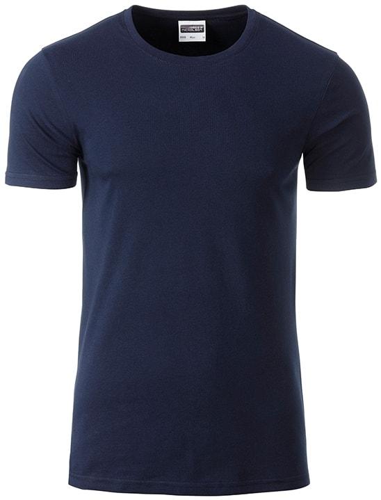 James & Nicholson Klasické pánske tričko z biobavlny 8008 - Tmavě modrá | XL