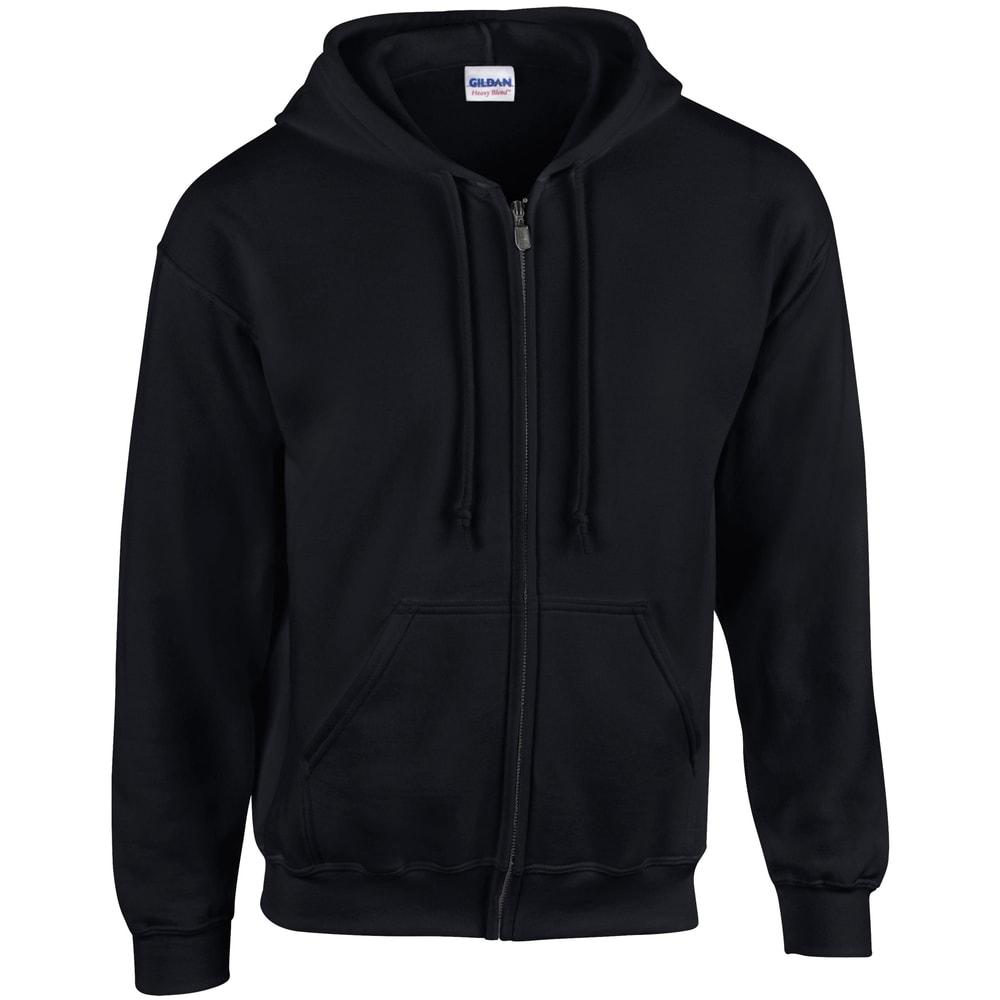 Mikina s kapucí na zip Gildan - L