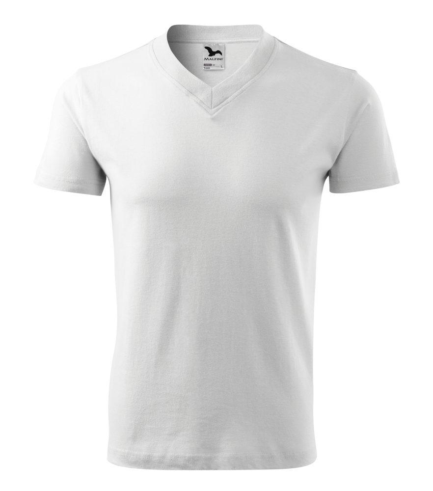 Adler Tričko V-neck - Bílá | S