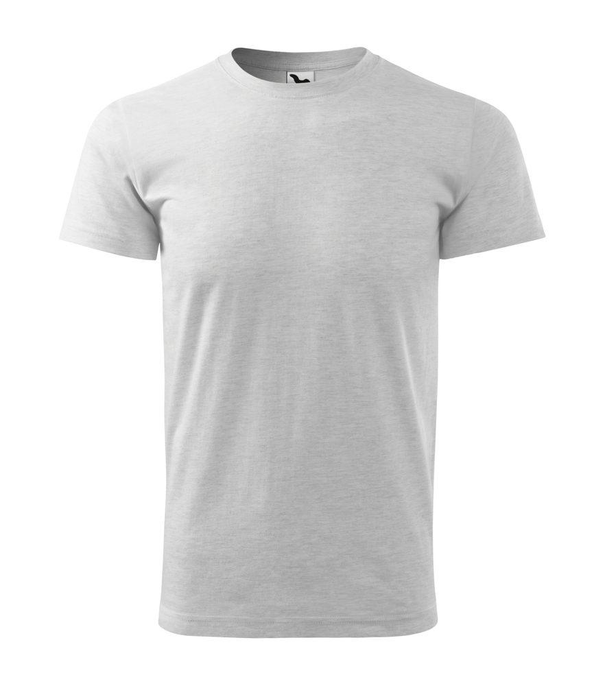 Adler Pánske tričko Basic - Světle šedý melír | L