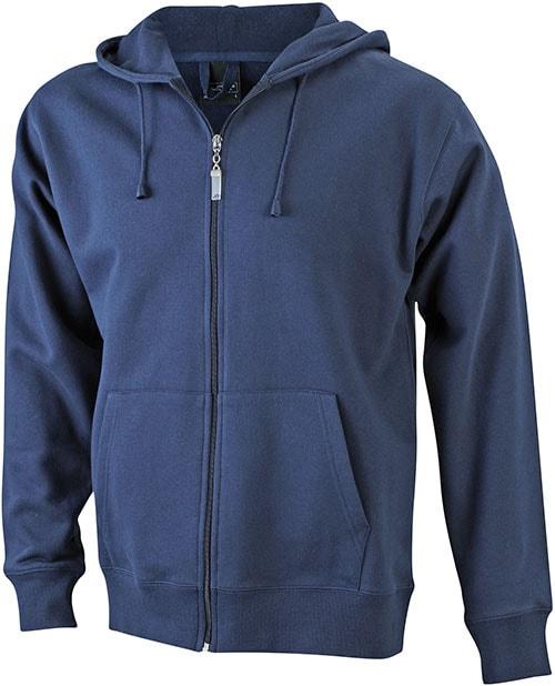 Pánská mikina na zip s kapucí JN042 - Tmavě modrá   XXXL