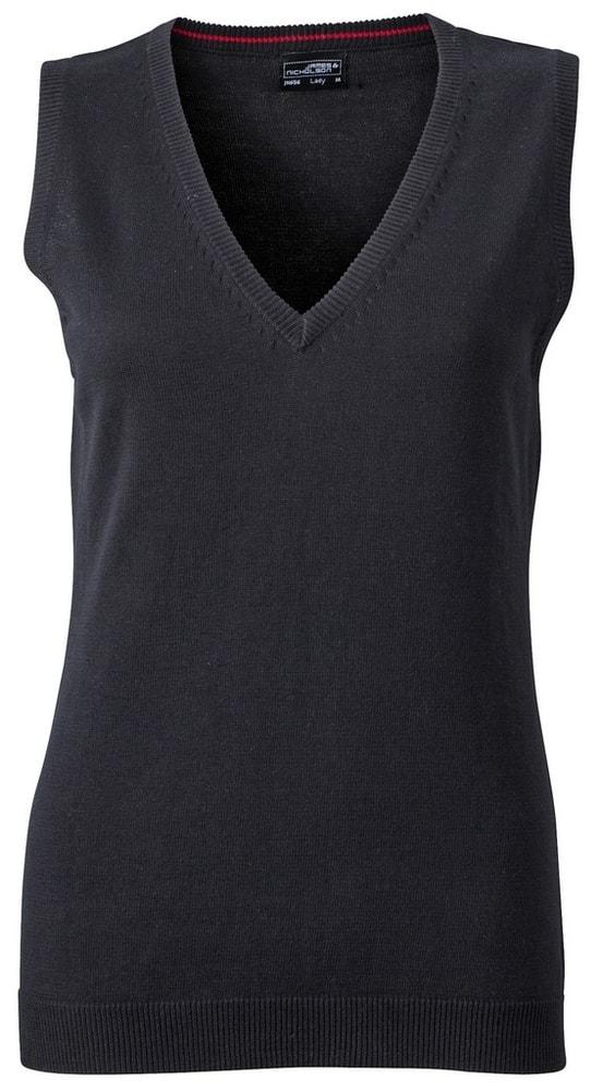 Dámský svetr bez rukávů JN656 - Černá   L