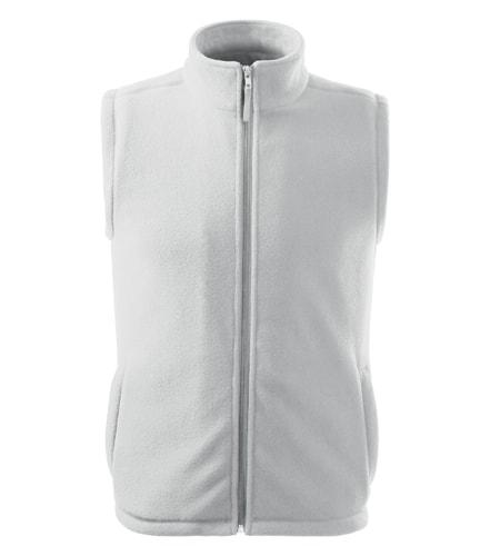 Adler Fleecová vesta Next - Bílá | XXXL