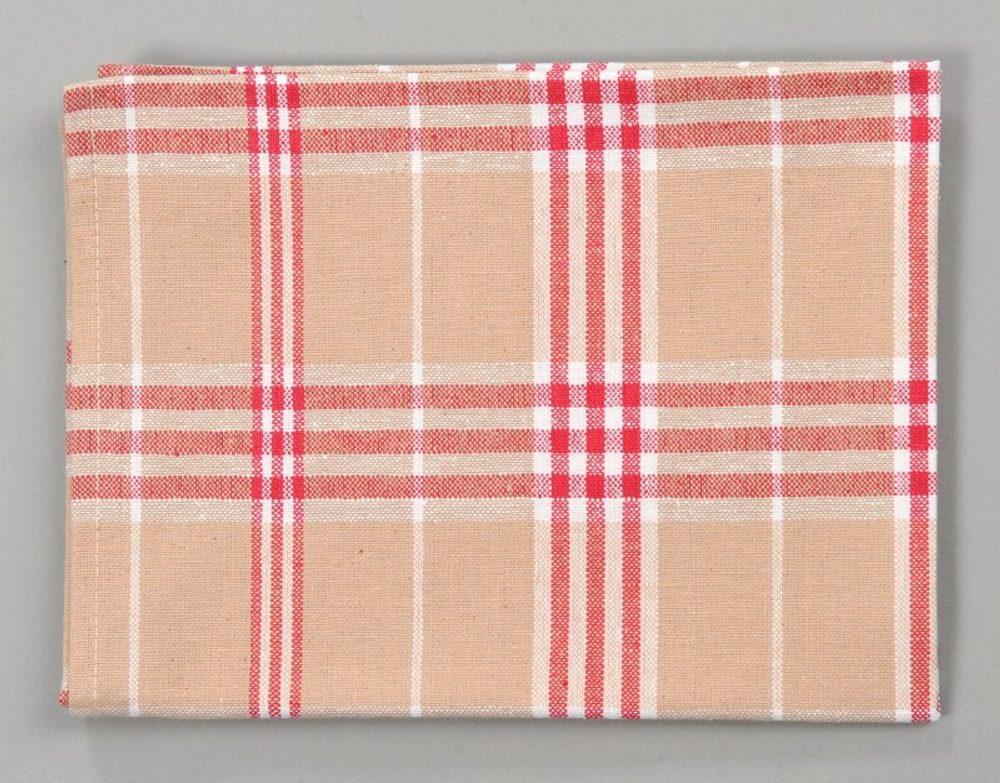 Dobrý Textil Kuchyňská bavlněná utěrka TINA - Červená