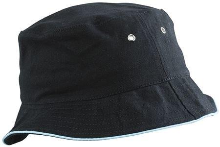 Bavlněný klobouk MB012 - Černá / mátová | S/M