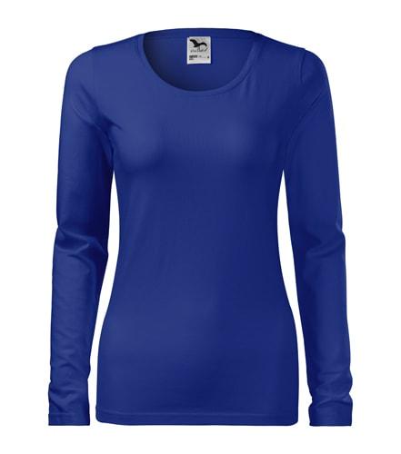 Dámské tričko s dlouhým rukávem Slim - Královská modrá | XS