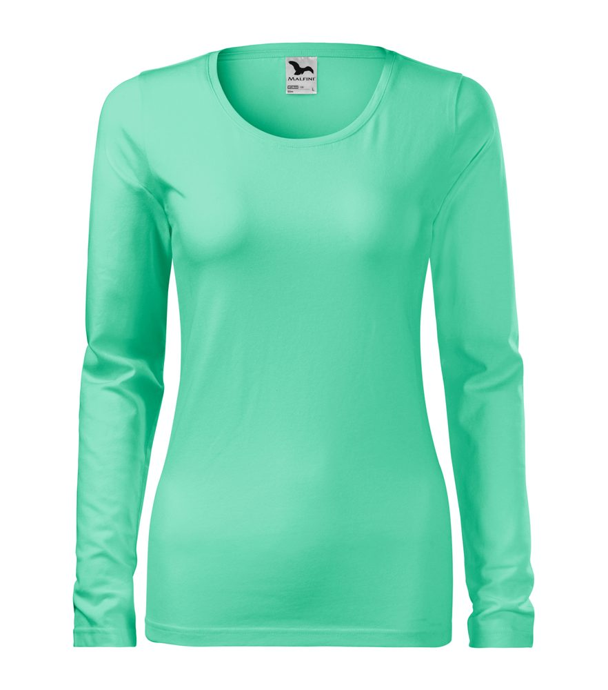 Adler Dámske tričko s dlhým rukávom Slim - Mátová | S