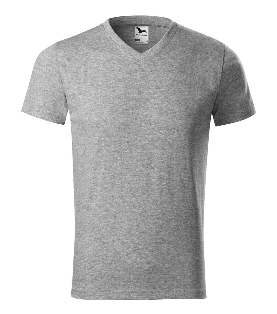 Adler Tričko Heavy V-neck - Tmavě šedý melír | XL
