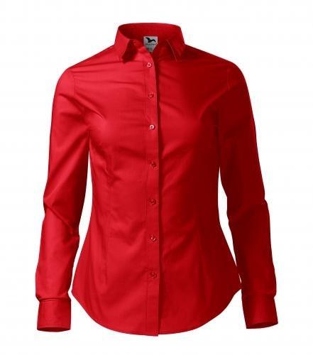 Adler Dámska košeľa s dlhým rukávom Style - Červená | XXL
