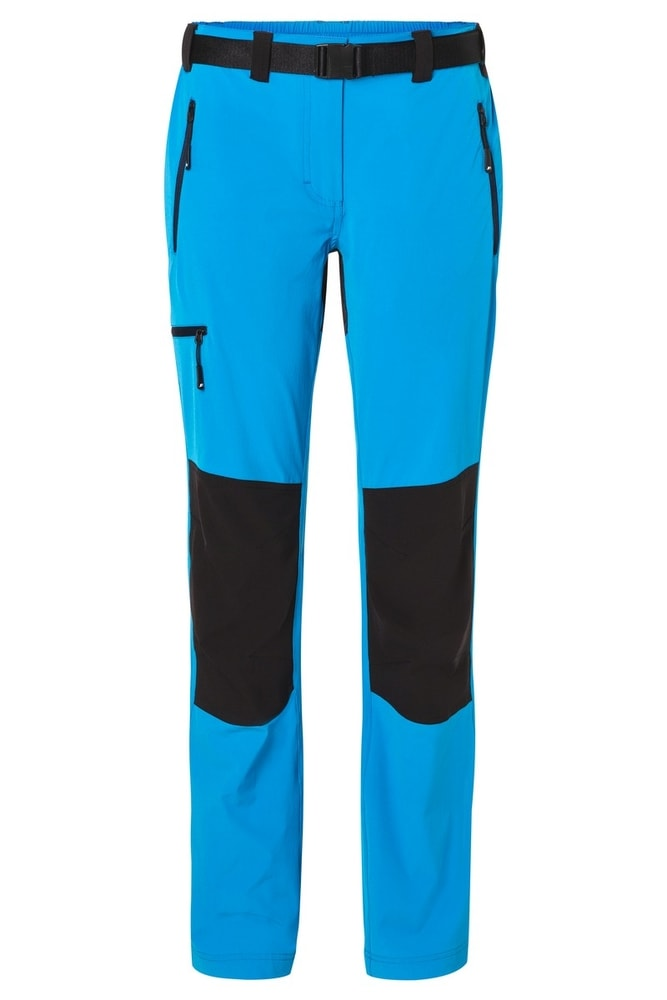 James & Nicholson Dámske trekingové nohavice JN1205 - Jasně modrá / tmavě modrá | L
