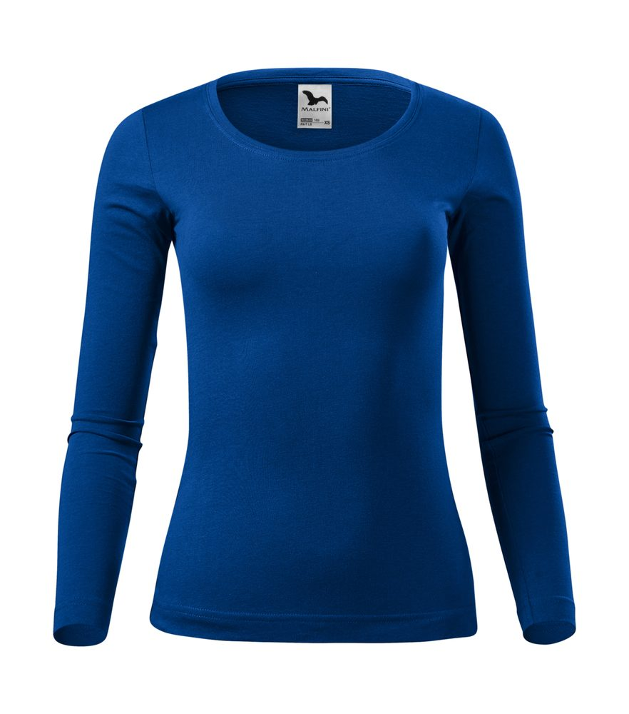 Adler (MALFINI) Dámske tričko s dlhým rukávom Fit-T Long Sleeve - Královská modrá | L