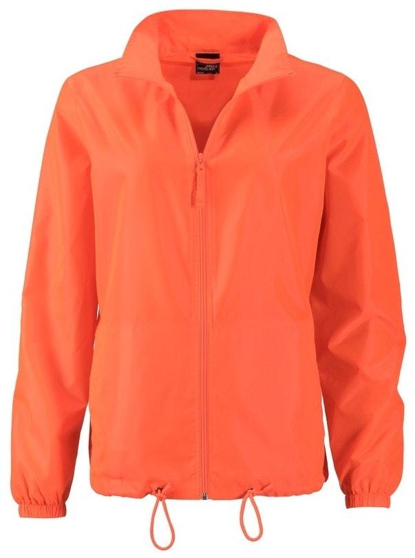 James & Nicholson Dámska vetrovka JN1131 - Jasně oranžová | S