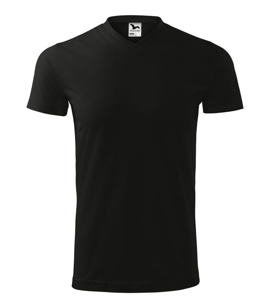 Adler Tričko Heavy V-neck - Černá | S