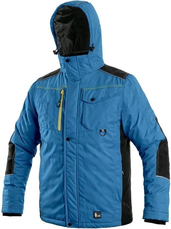 Canis Pánska zimná bunda CXS BALTIMORE - Středně modrá / černá | XXXL