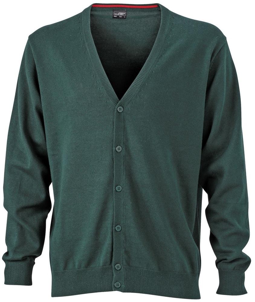 Pánský bavlněný svetr JN661 - Lesní zelená   XXL