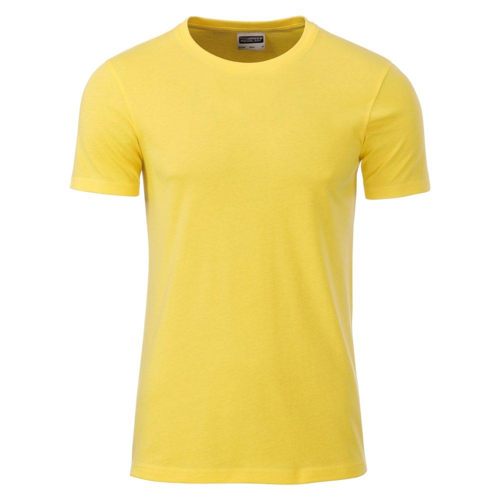 James & Nicholson Klasické pánske tričko z biobavlny 8008 - Žlutá   L