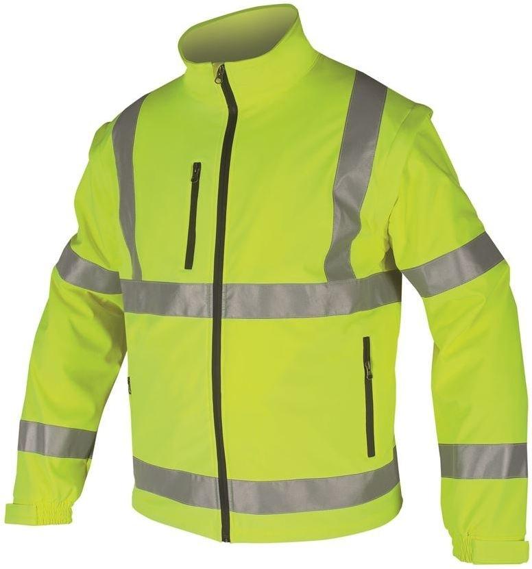 Reflexní softshellová bunda - Žlutá | XXXL
