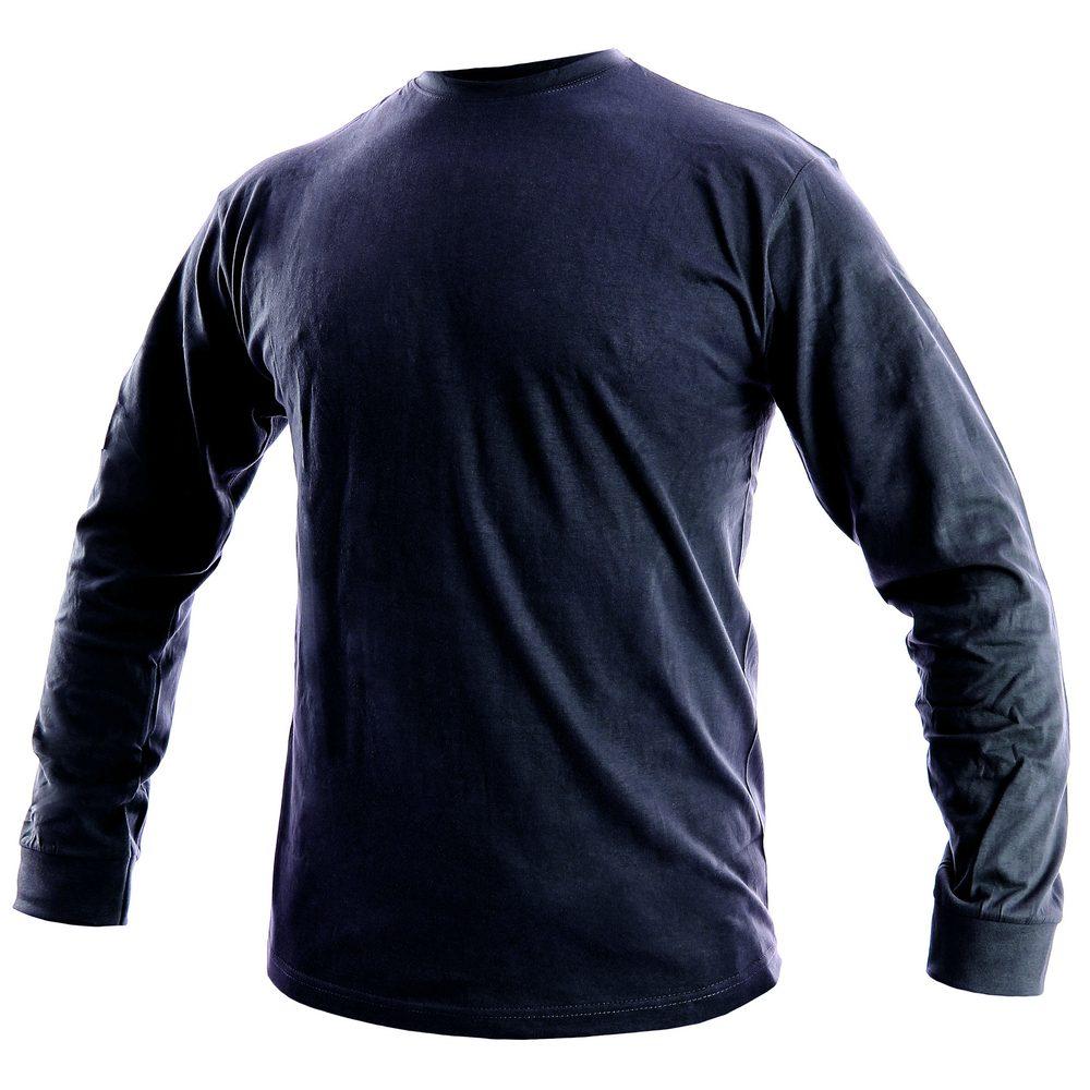 Canis Pánske tričko s dlhým rukávom PETR - Tmavě modrá | M