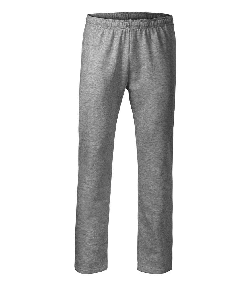 Adler (MALFINI) Pánske/detské tepláky Comfort - Tmavě šedý melír | L